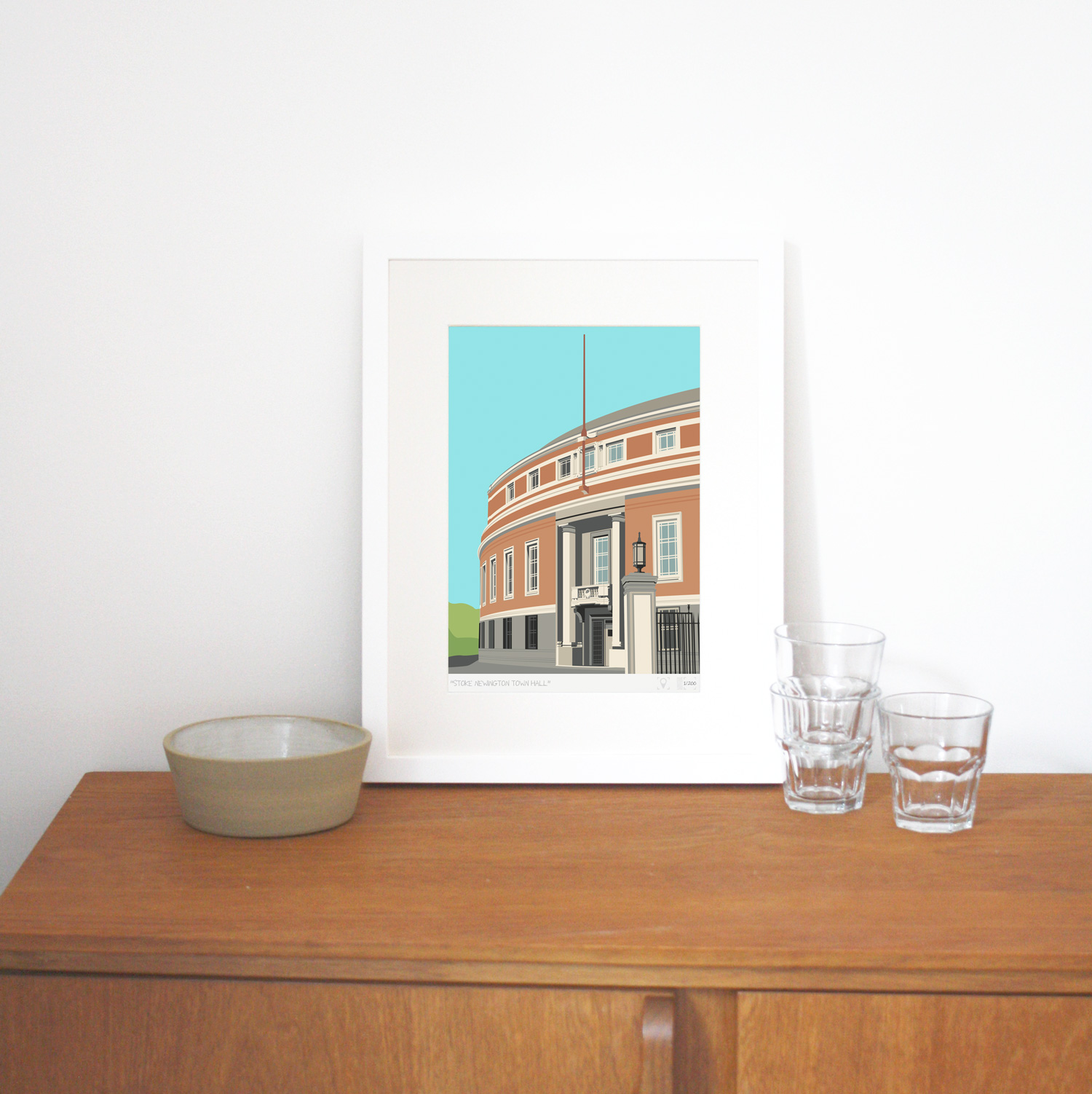 Place in Print Stoke Newington Town Hall Art Print Lifestyle