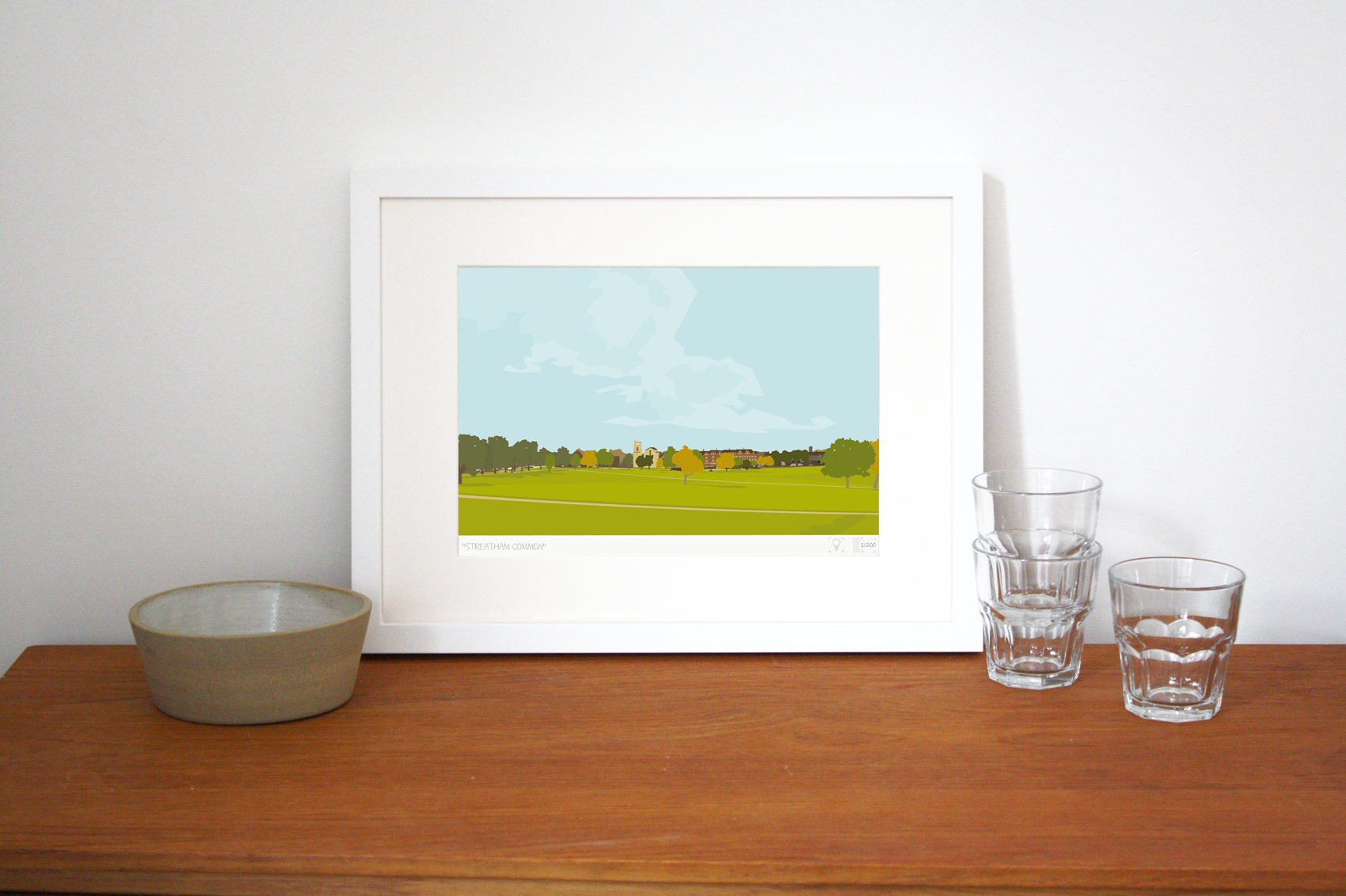 Place in Print Streatham Common Art Print Lifestyle