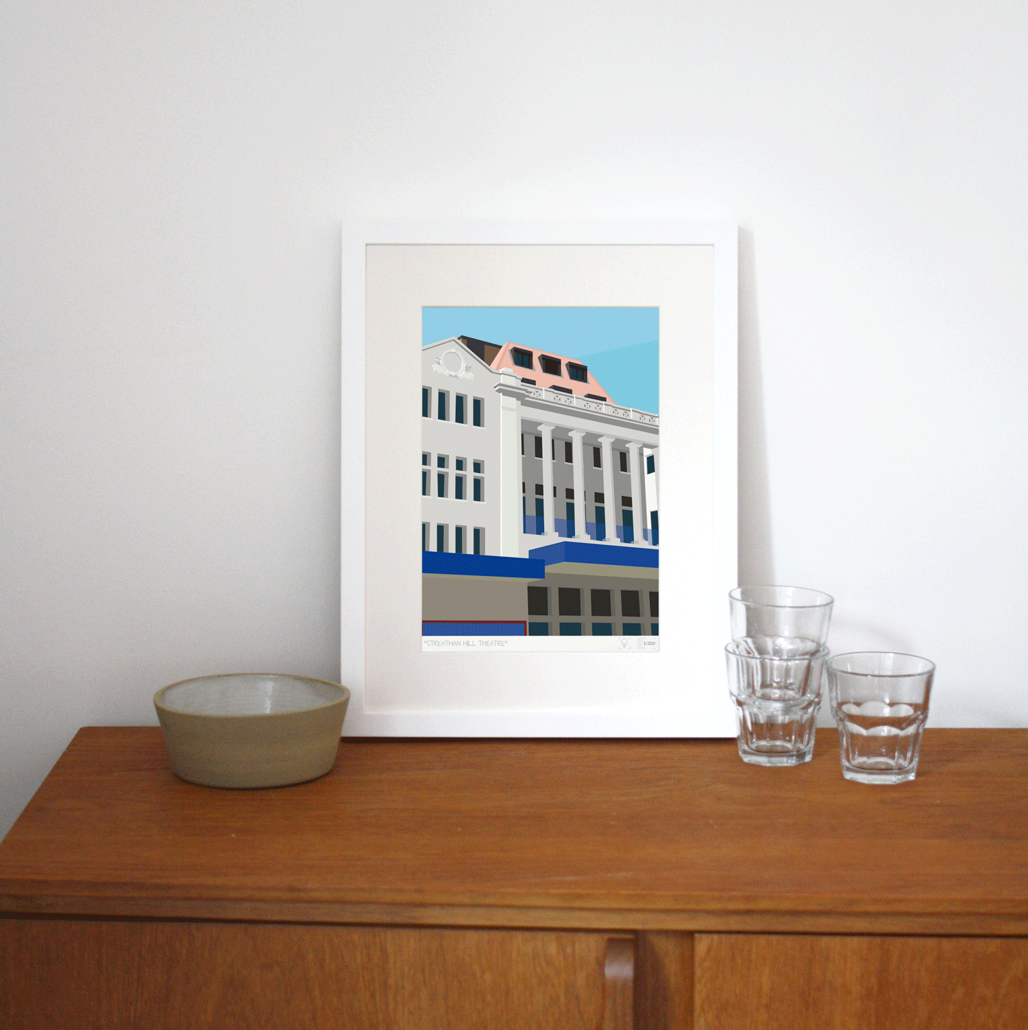 Place in Print Streatham Hill Theatre Beacon Bingo Art Print Lifestyle