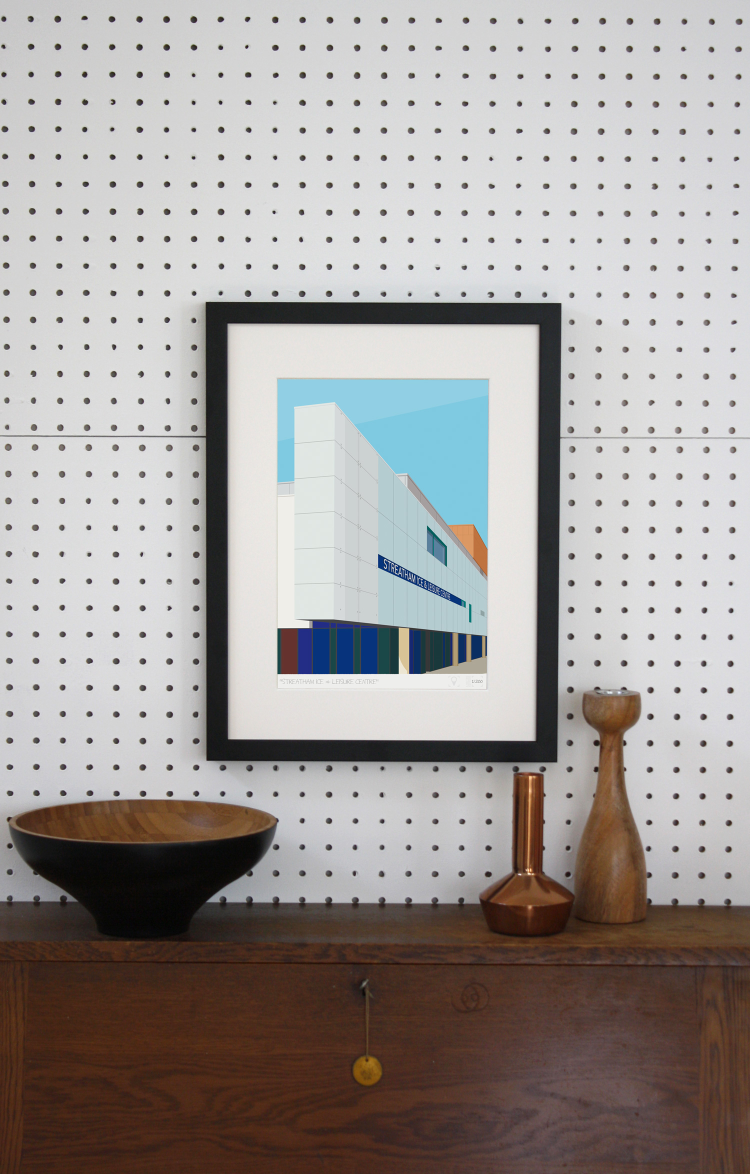 Place in Print Streatham Ice and Leisure Centre Art Print Lifestyle