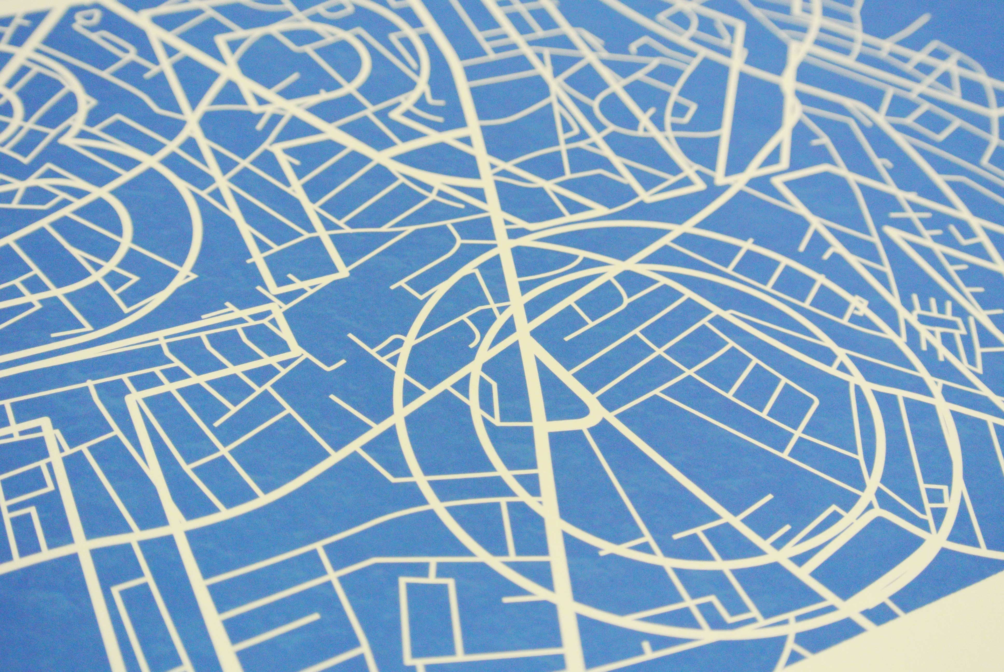 Streets of Brixton Art Poster Print