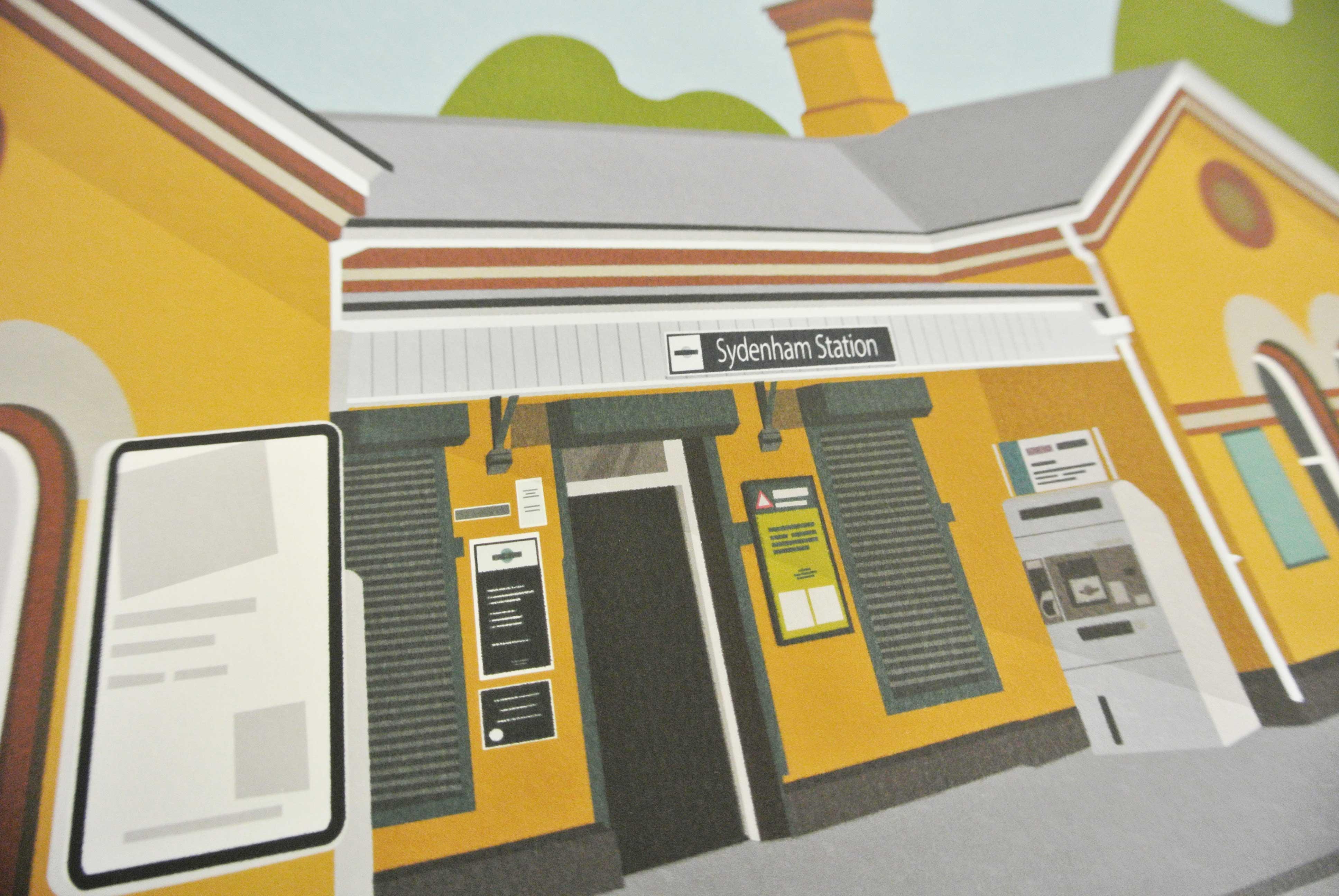 Sydenham Station Art Poster Print