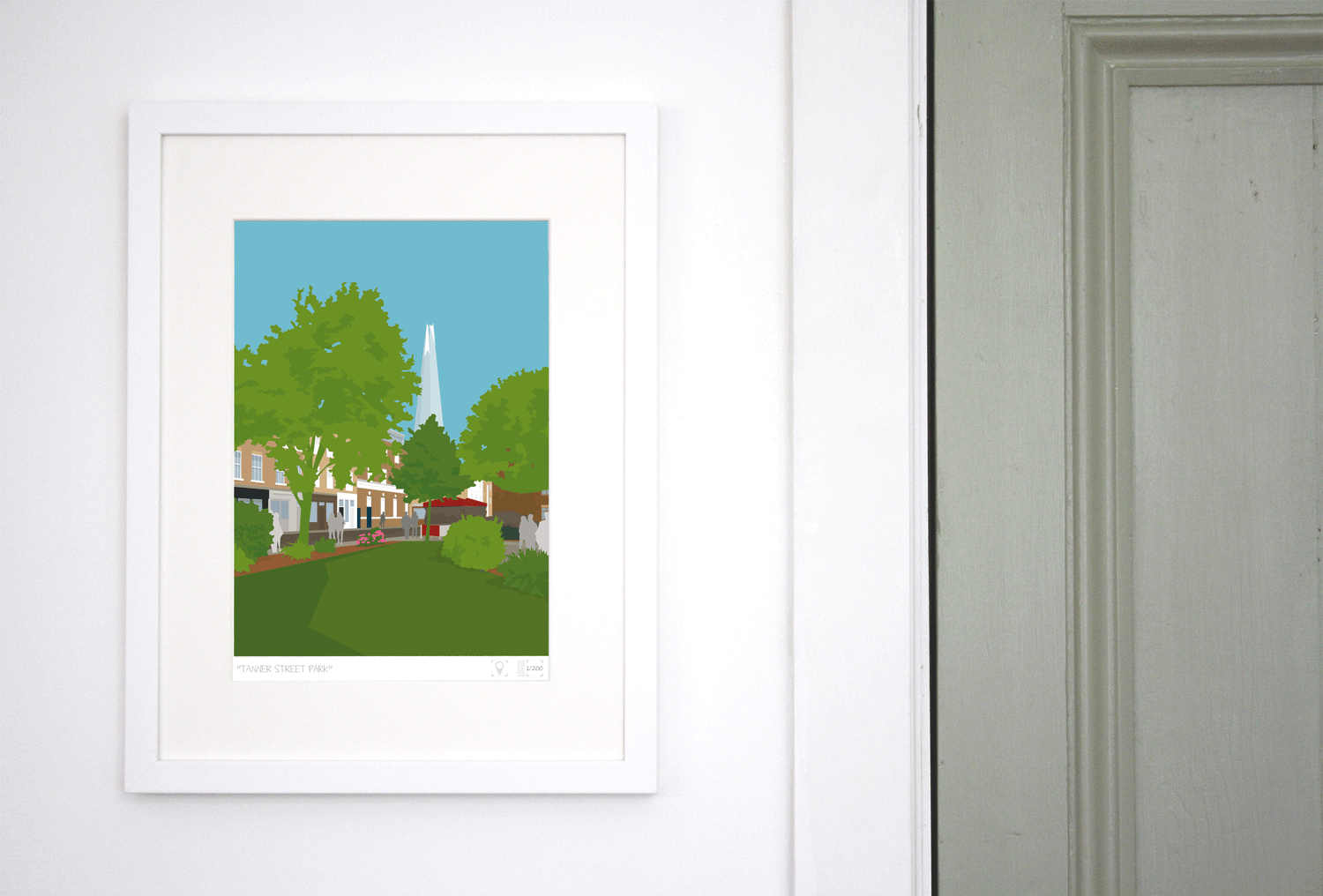 Place in Print Tanner Street Park Limited Edition Art Print Lifestyle