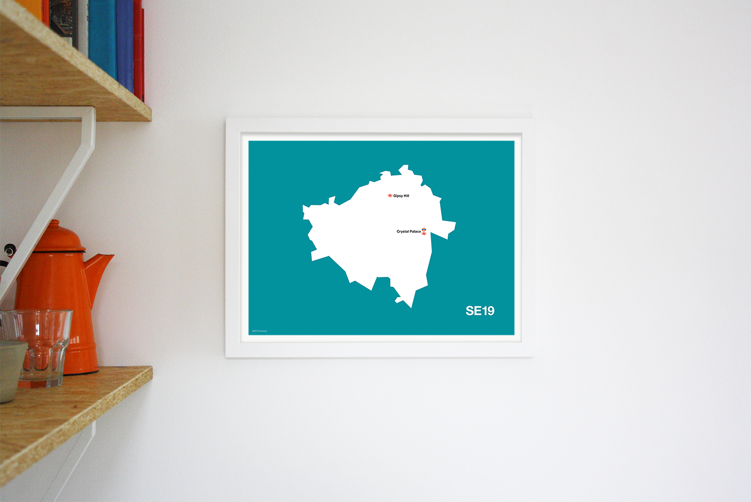 Place in Print MDLThomson SE19 Postcode Map Art Print Lifestyle