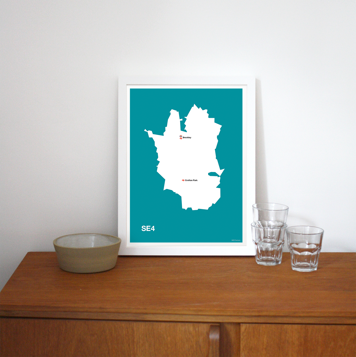 Place in Print MDLThomson SE4 Postcode Map Art Print Lifestyle