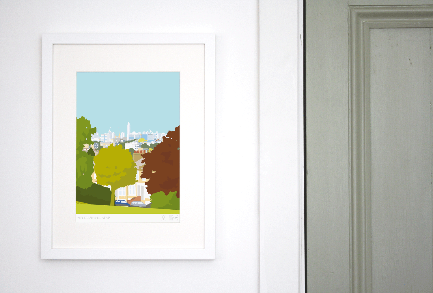 Place in Print Telegraph Hill View Brockley Art Print Lifestyle