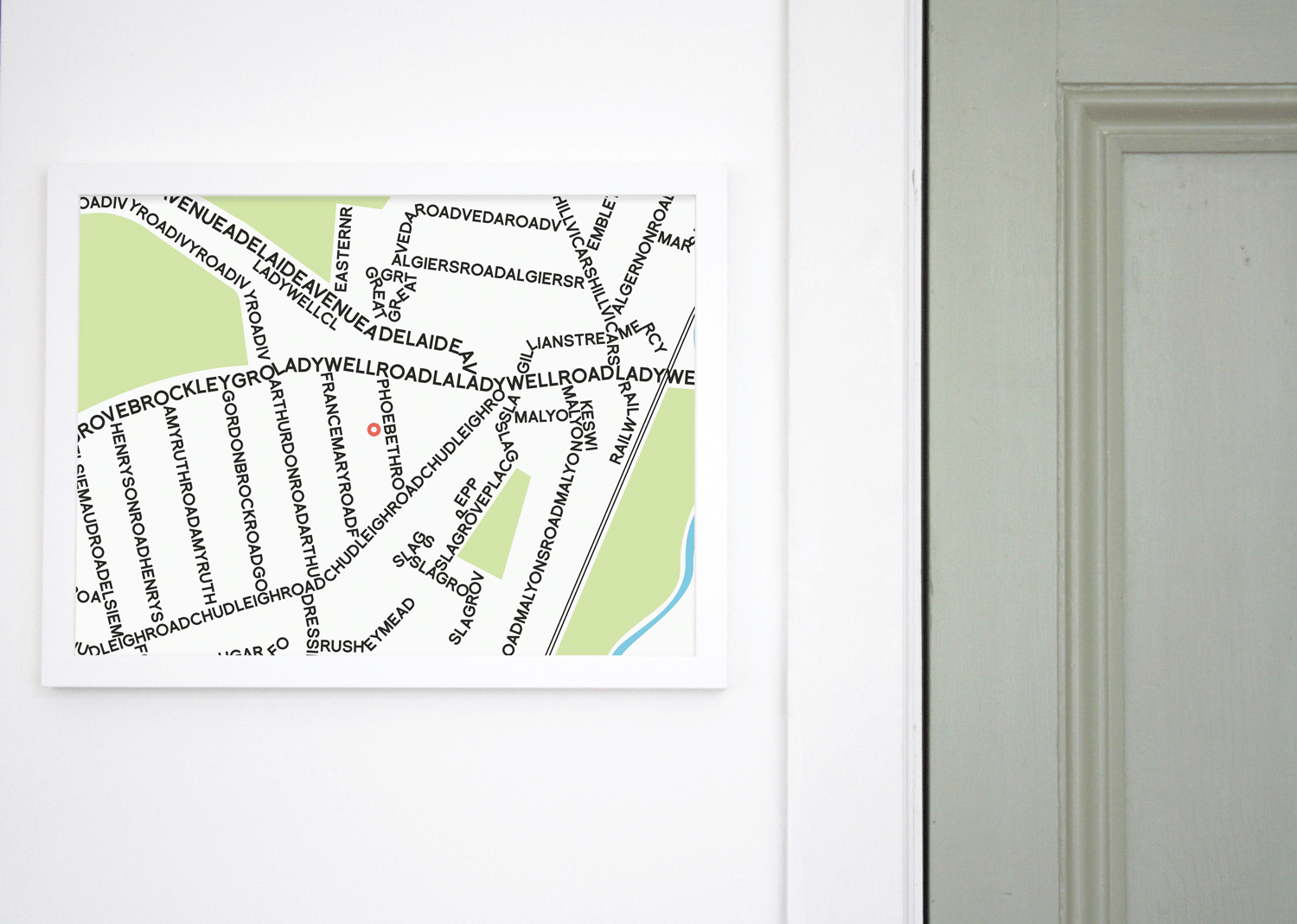 Place in Print Personalised Typographic Street Map Art Print Landscape Lifestyle