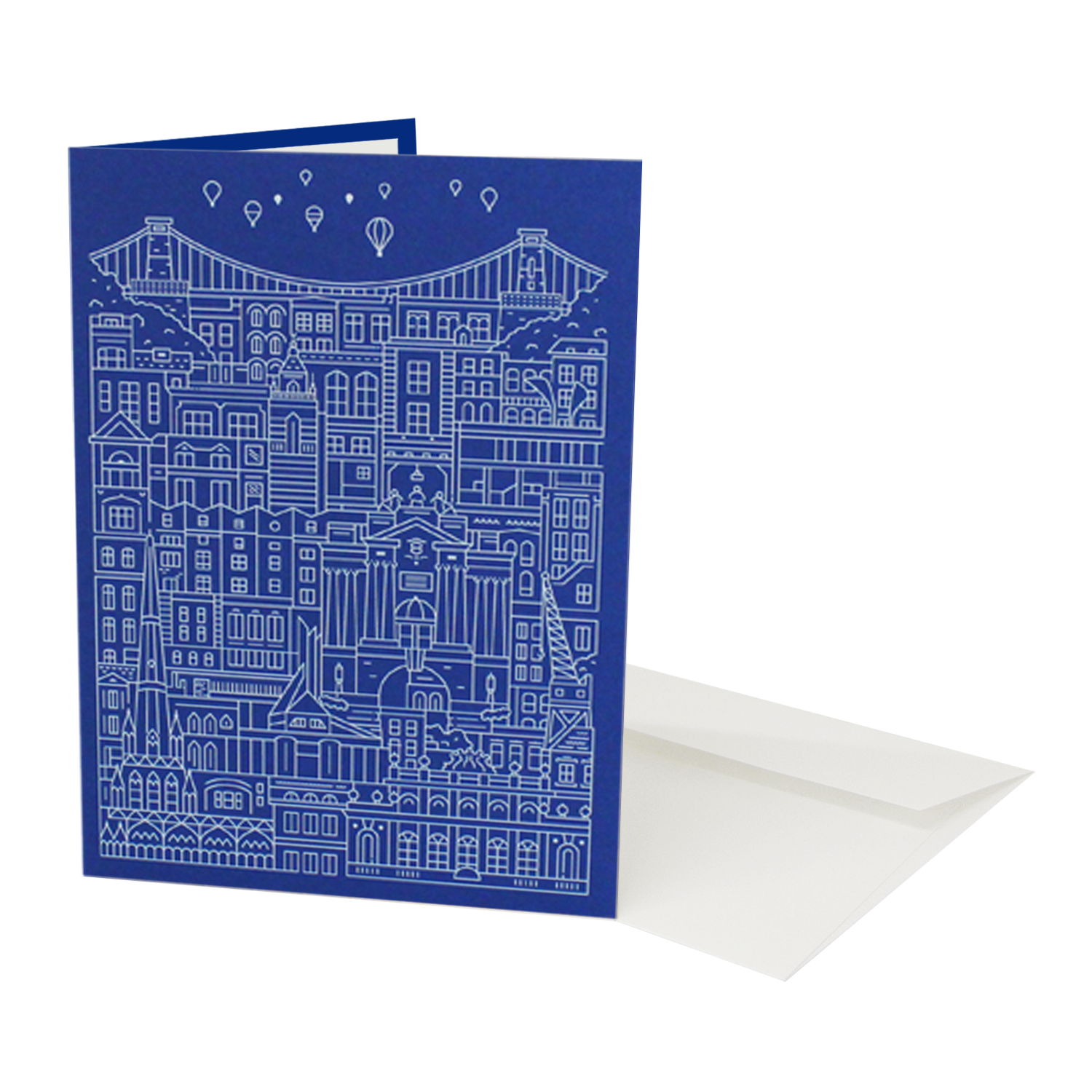 Place in Print The City Works Bristol Greetings Card Exterior