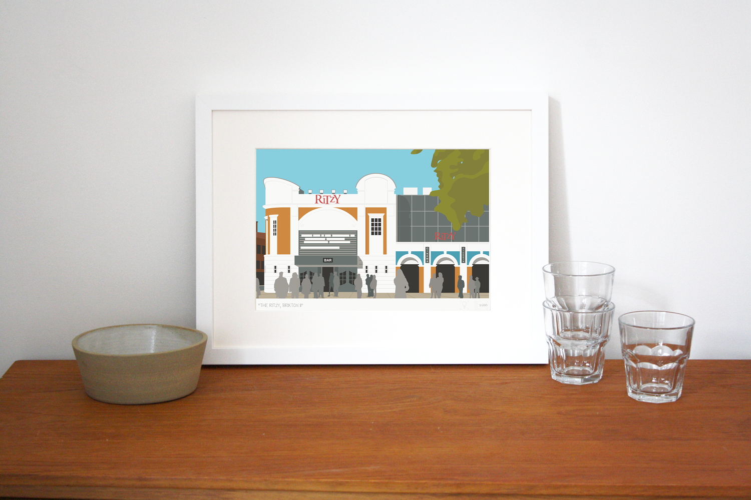 Place in Print The Ritzy Brixton Art Print Lifestyle