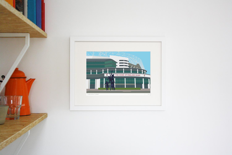 Place in Print Twickenham Rugby Stadium London Art Print Lifestyle