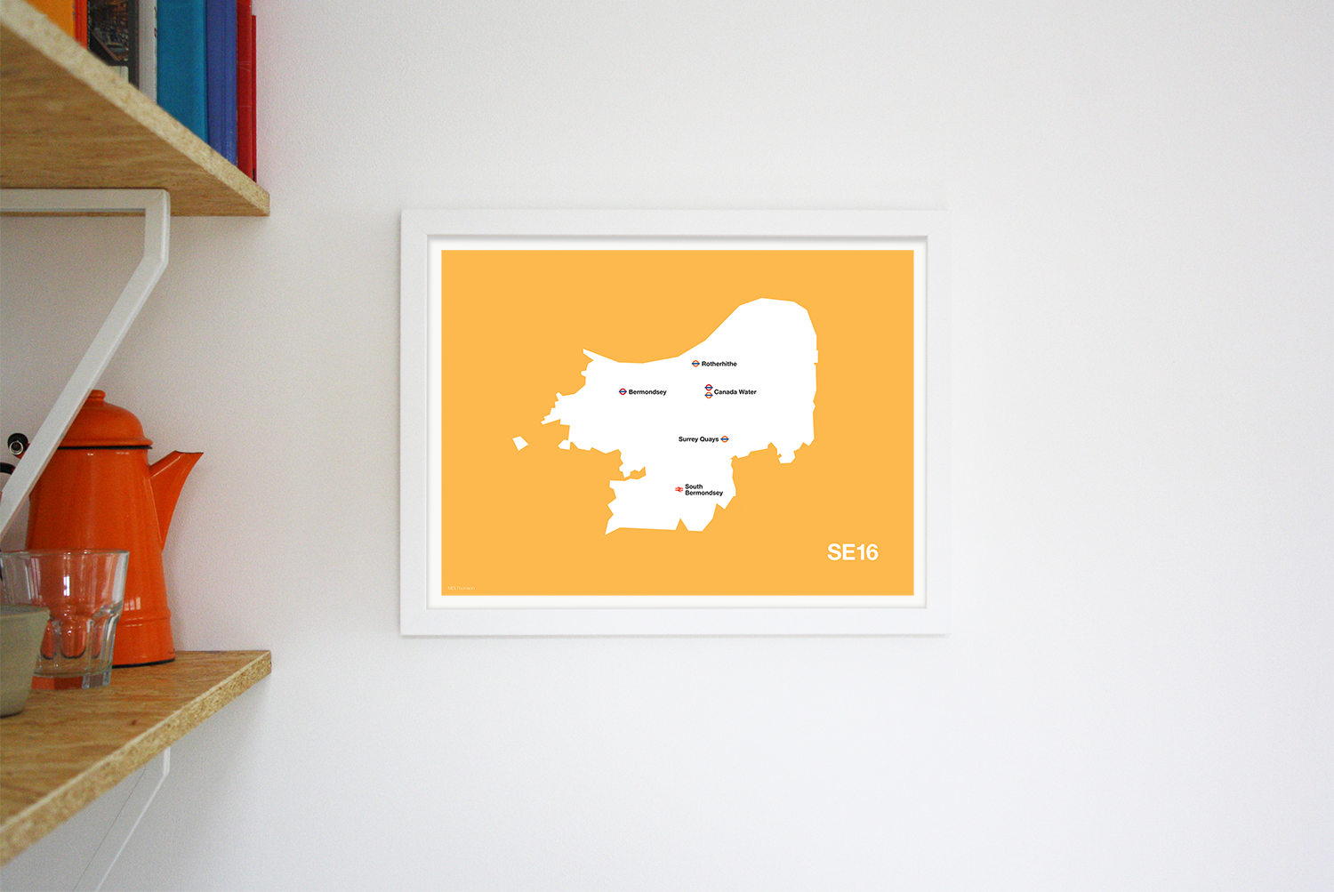 Place in Print MDLThomson SE16 Postcode Map Art Print Lifestyle