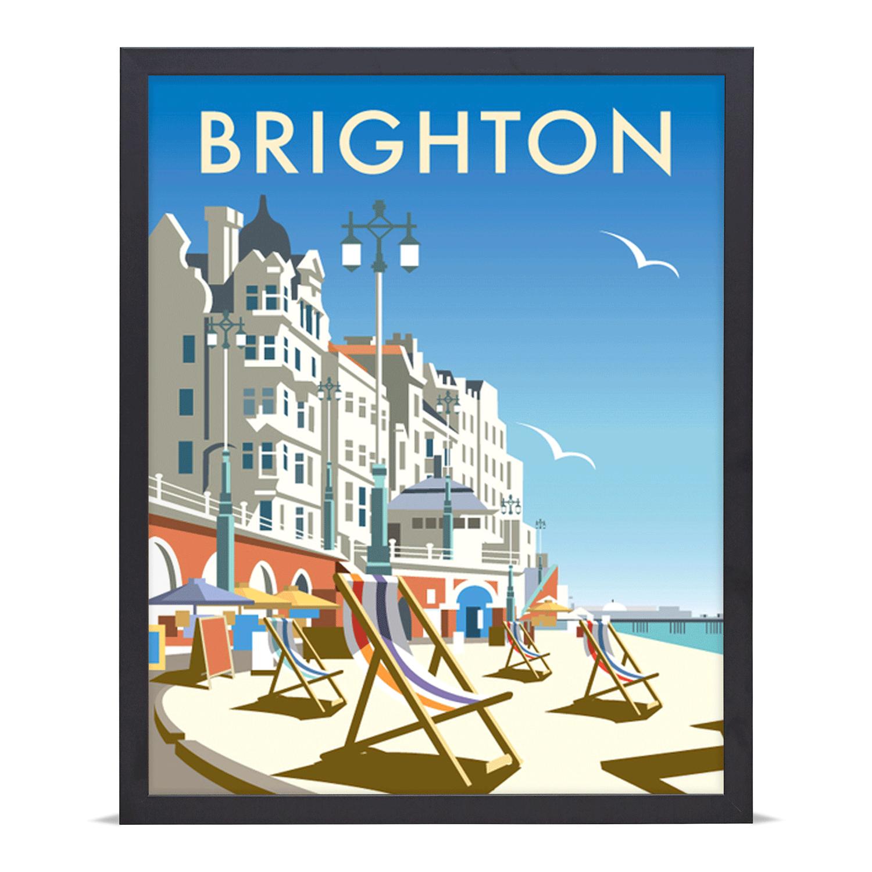Thompson Travel Uk: Brighton Travel Poster Giclée Art Print