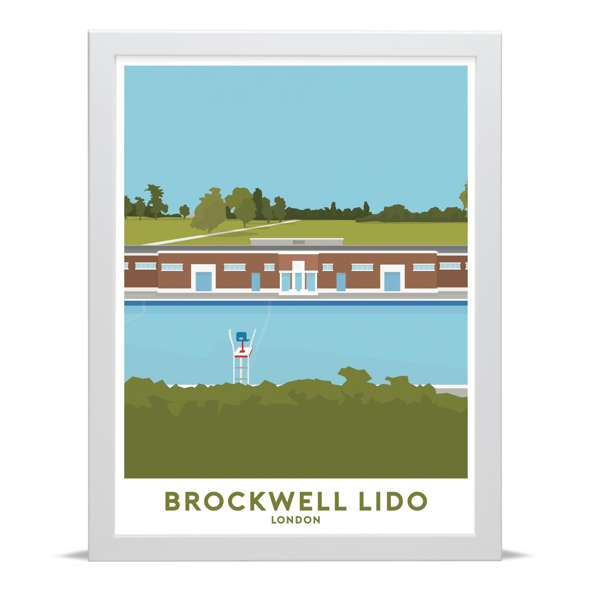 Place in Print Brockwell Lido and Park Travel Poster Art Print