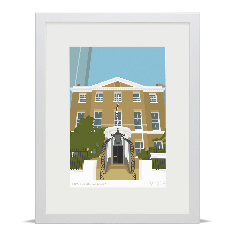 Place in Print Brunswick House Vauxhall Art Print
