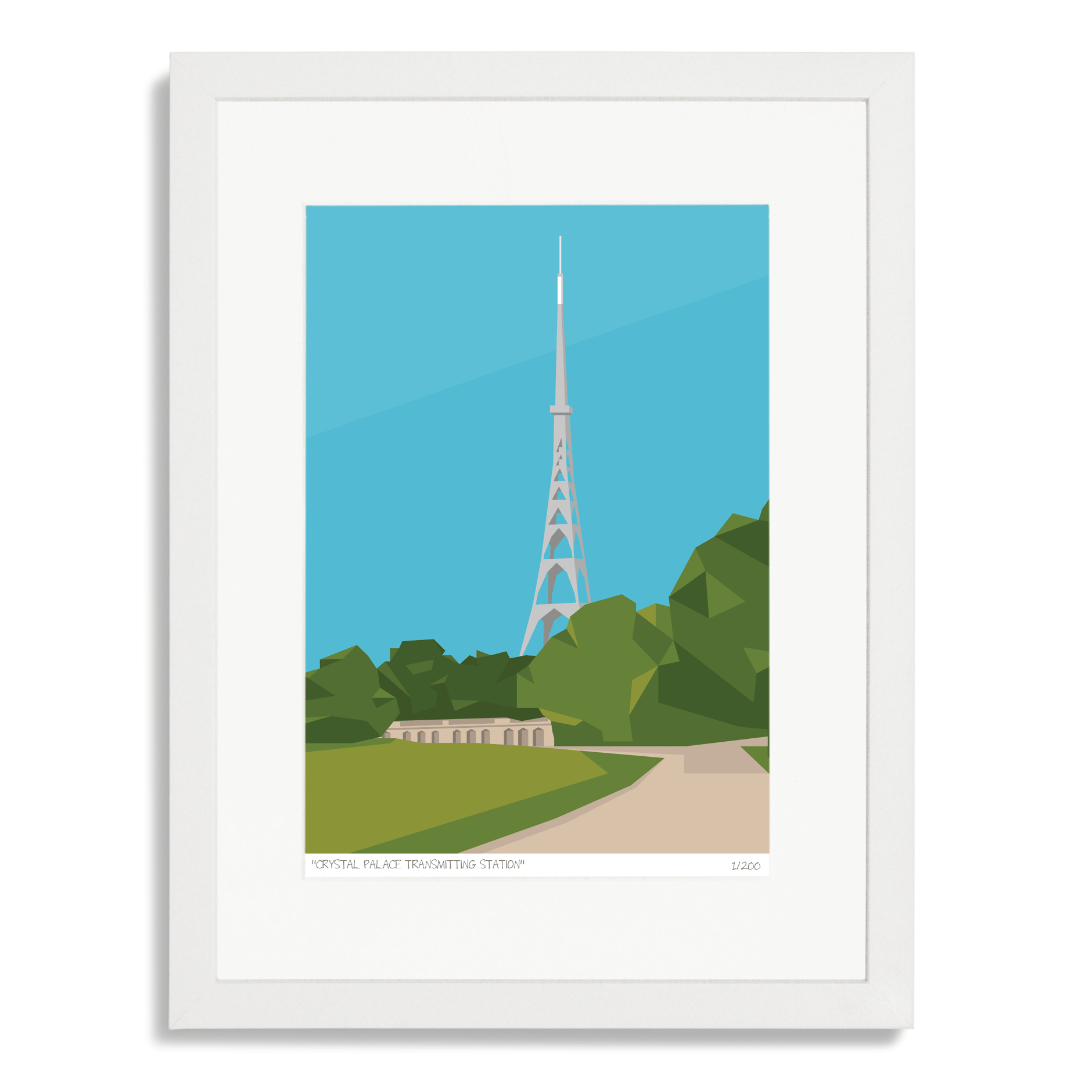 Place in Print Crystal Palace Transmitter Antenna Art Poster Print