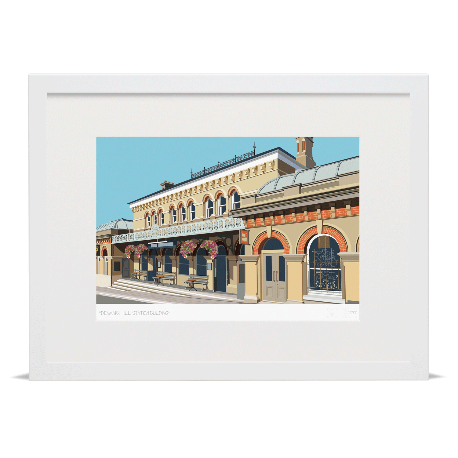 Place in Print Denmark Hill Station Building Art Print