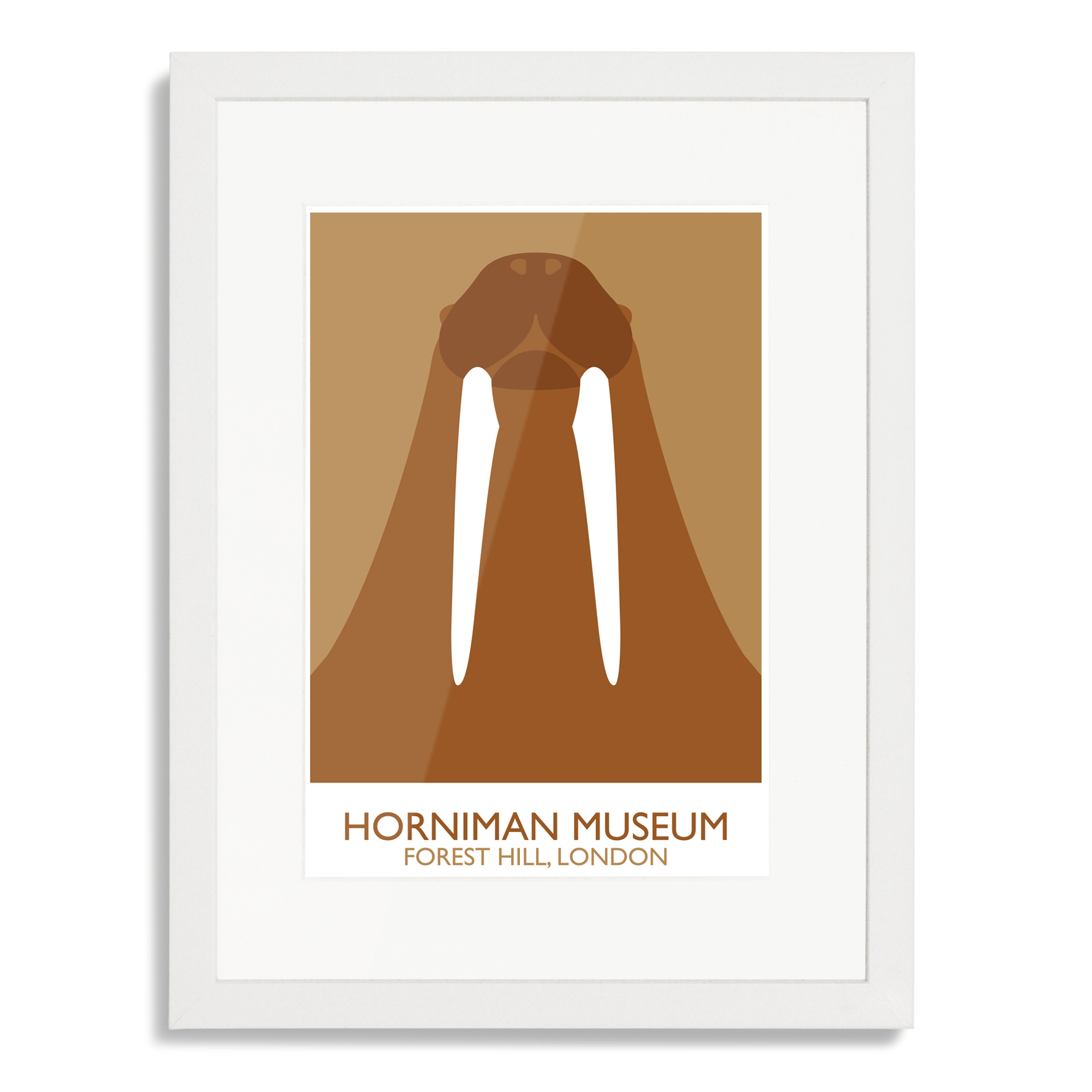 Horniman Museum Walrus Landmark Art Poster Print