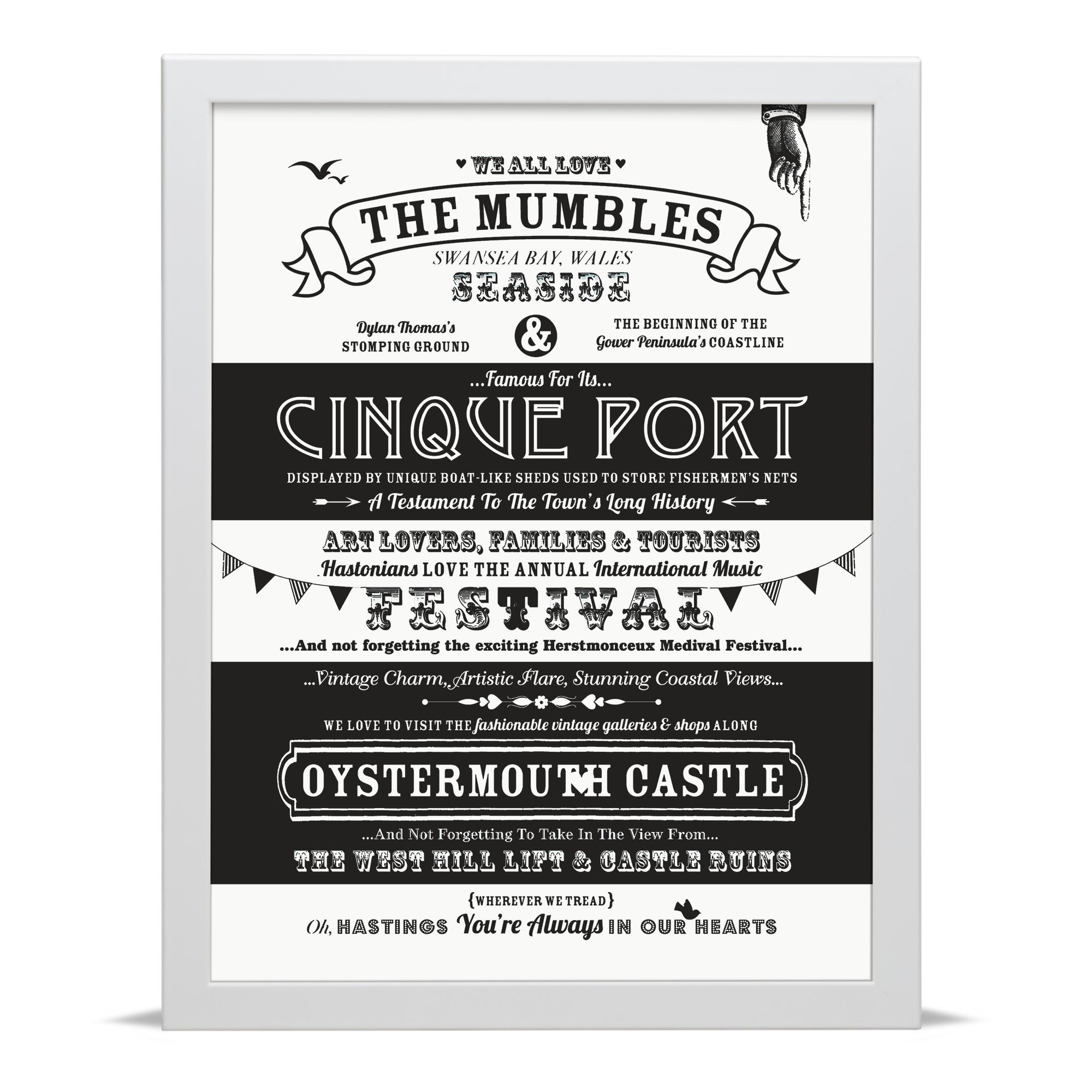 Place in Print Octavia Plum Mumbles Love Your Location Art Print