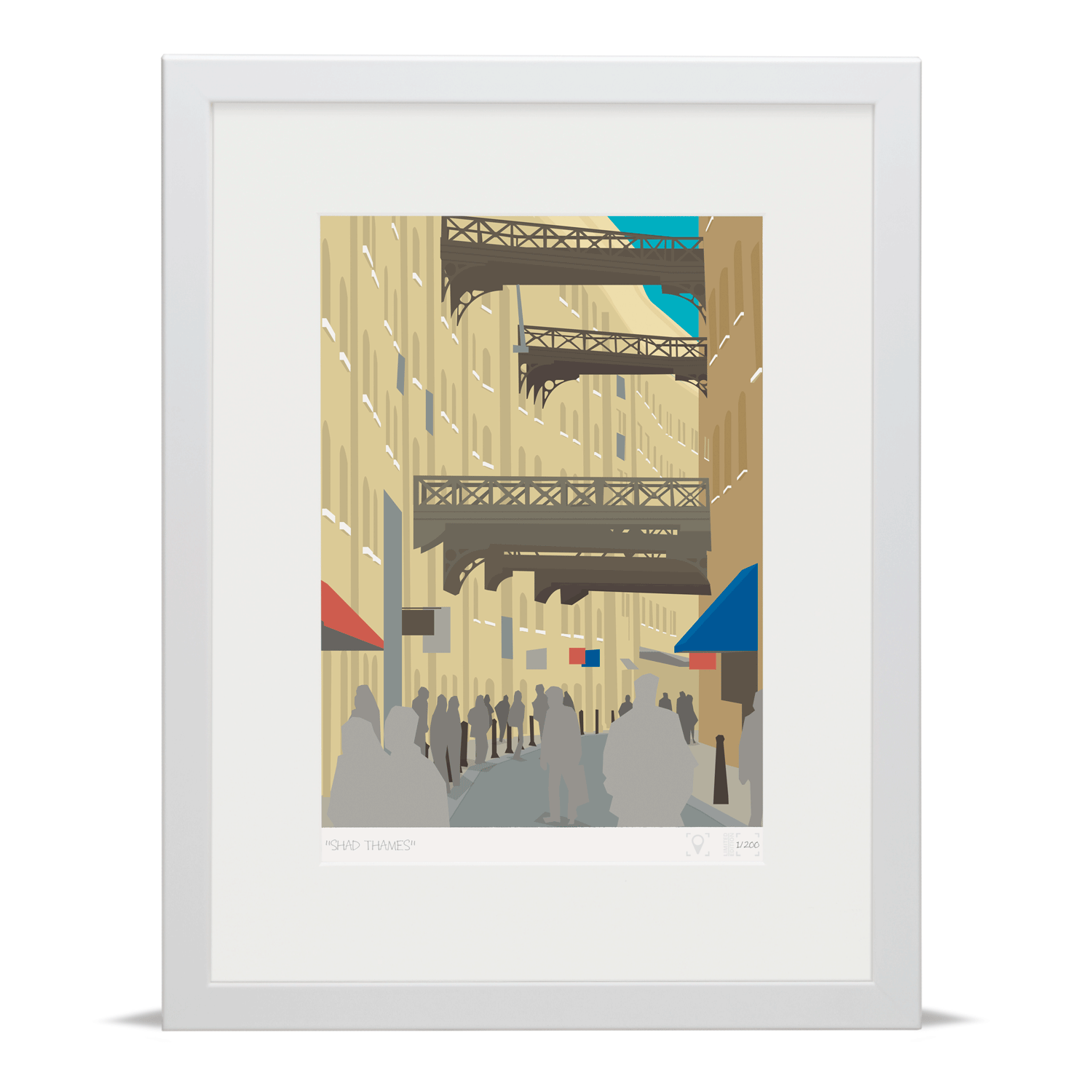 Place in Print Shad Thames London Bridge Banner Art Poster Print