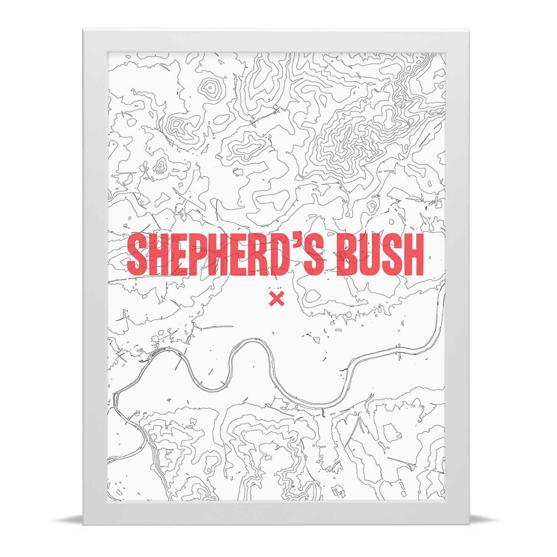 Place in Print Shepherds Bush Contour Map Art Print