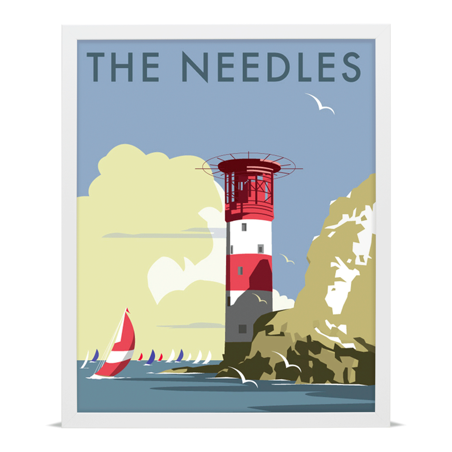 The Needles, Isle of Wight Travel Poster Giclée Art Print | Isle of ...