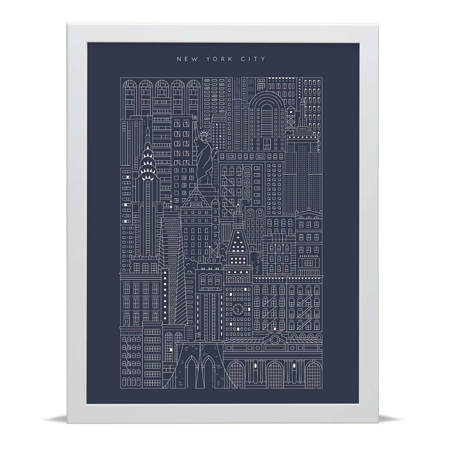 New york city blueprint archival art print new york art prints place in print the city works new york blueprint art print malvernweather Gallery