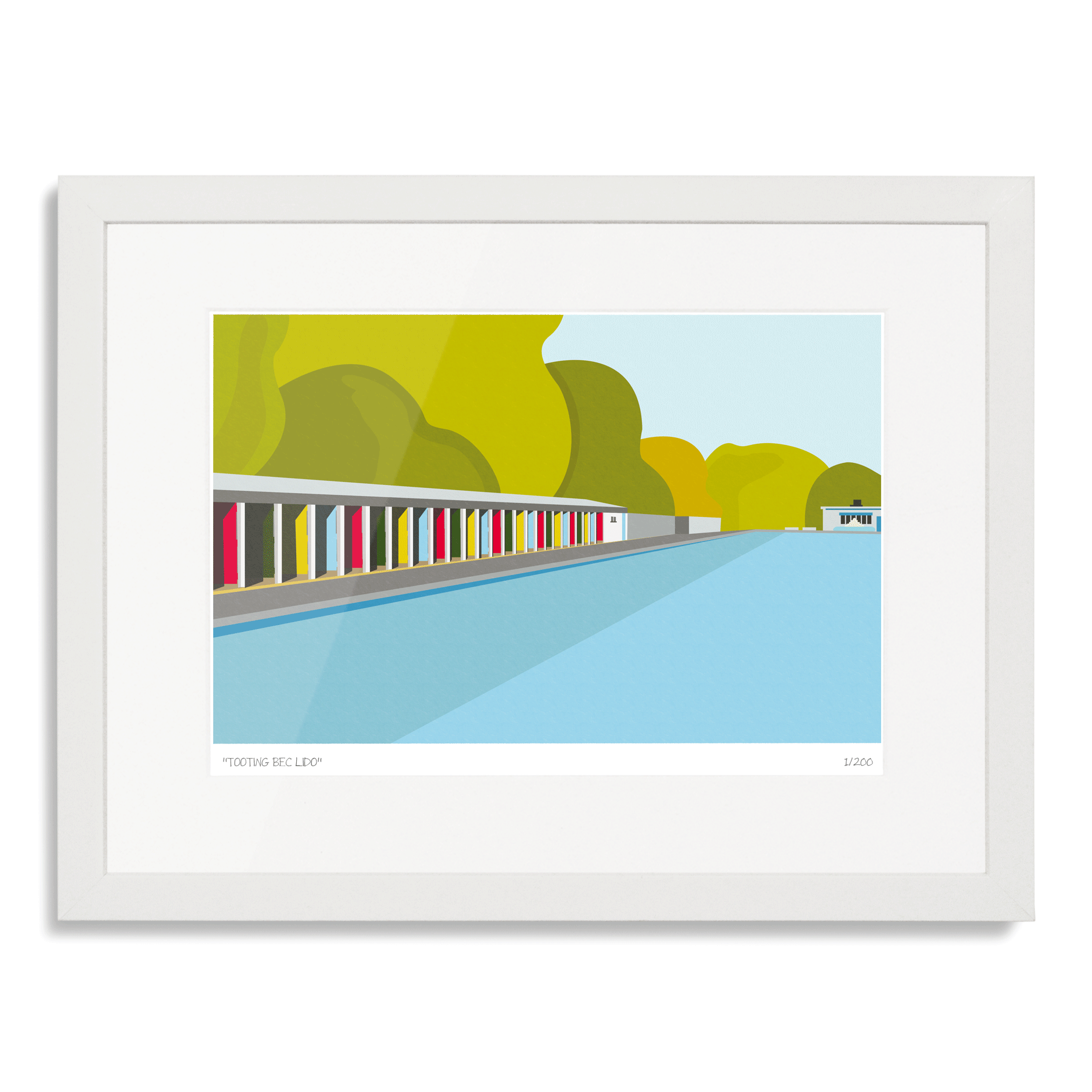 Tooting Bec Lido Limited Edition Gicl E Art Print London Art Prints Limited Edition