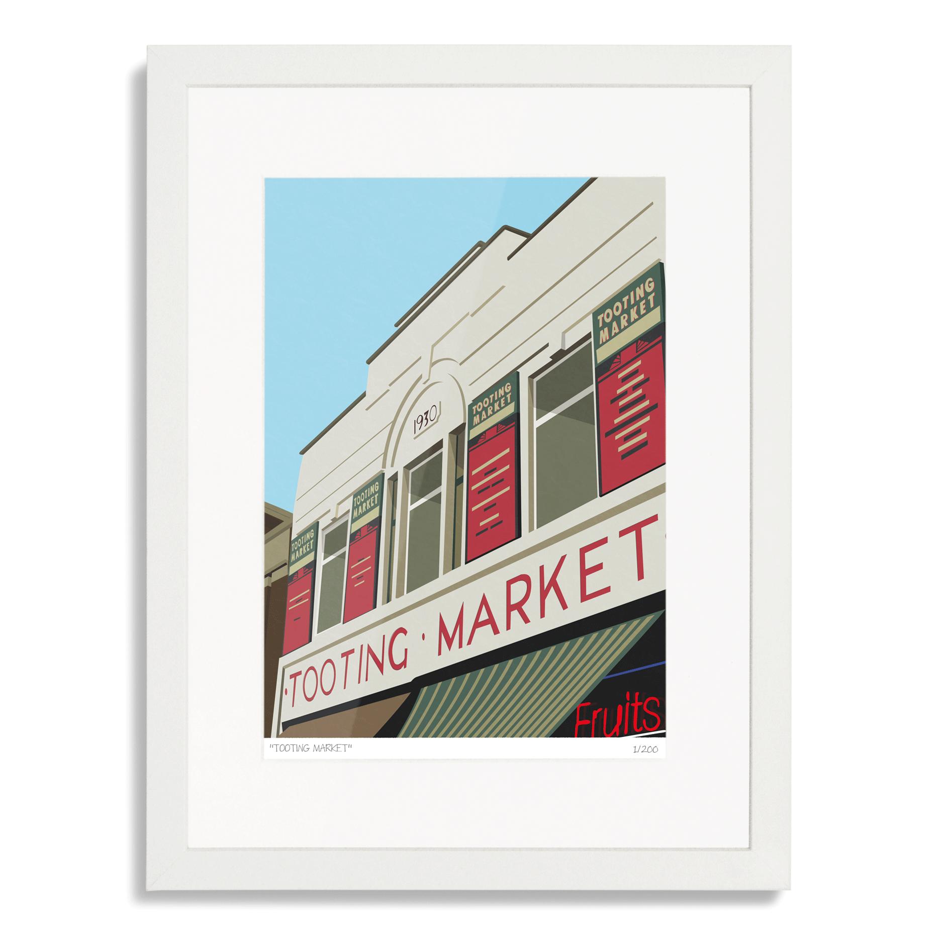 Tooting Market Art Poster Print
