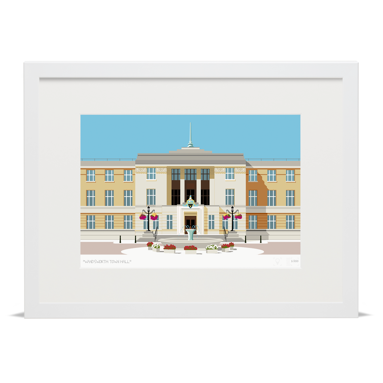 Place in Print Wandsworth Town Hall Landmark Art Print