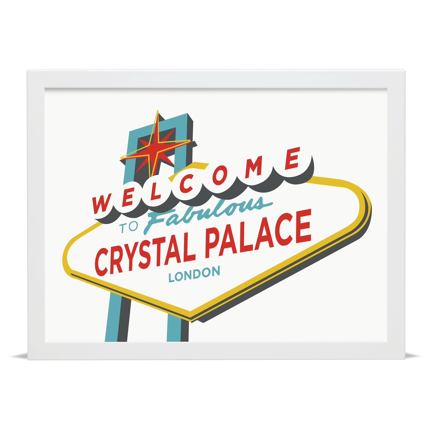 Place in Print Welcome to Fabulous Crystal Palace Vegas Sign Art Print