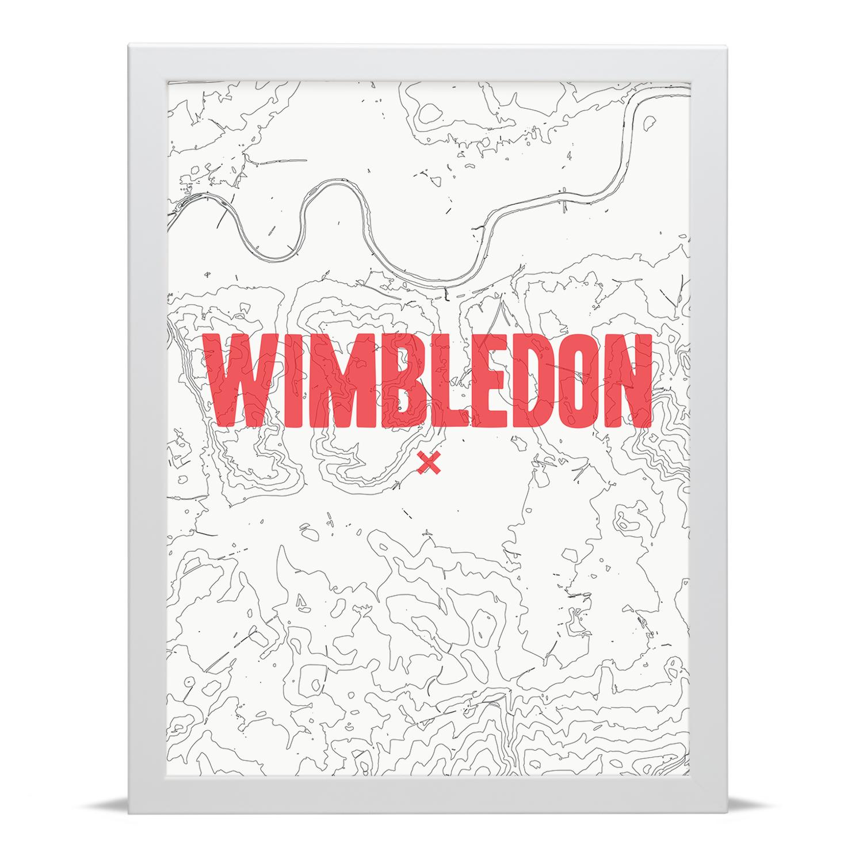 Place in Print Wimbledon Contour Map Art Print