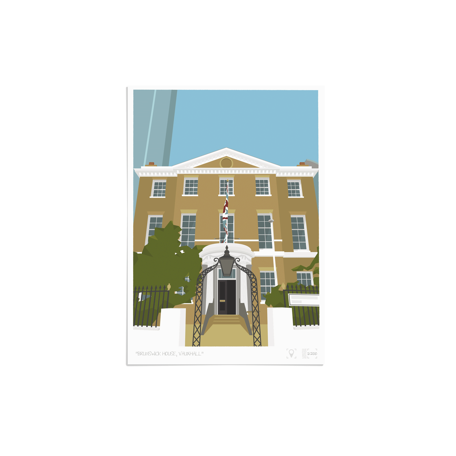 Place in Print Brunswick House Vauxhall Art Print Unframed