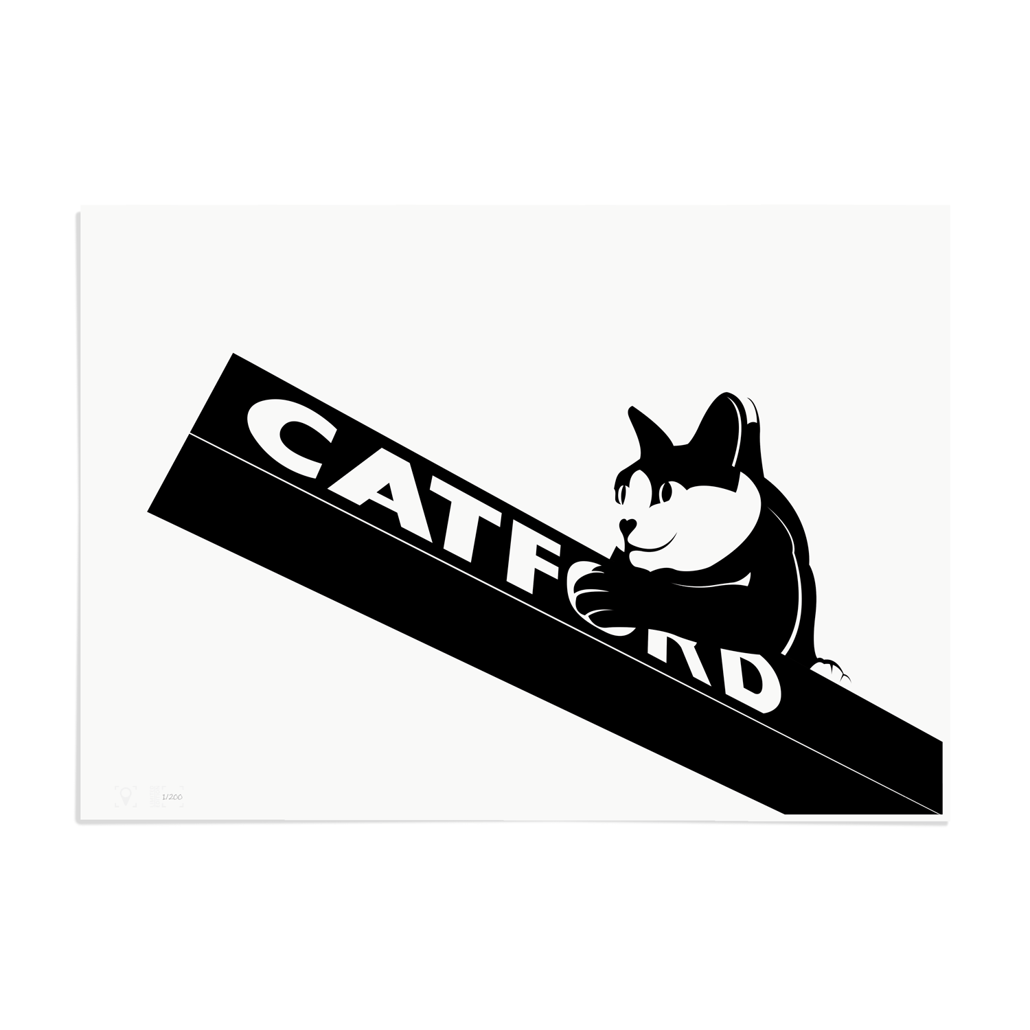 Place in Print Catford Cat 2 SE6 Art Print Unframed