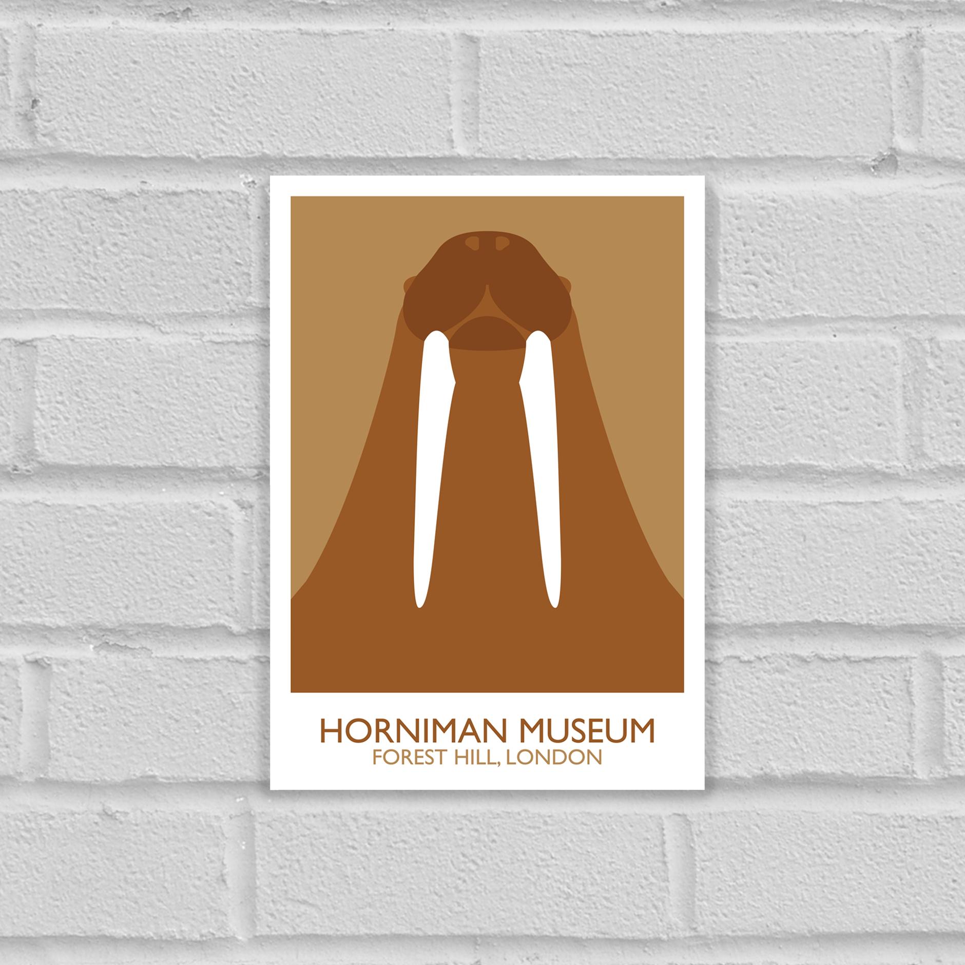 Horniman Museum Walrus Landmark Art Poster Print Unframed