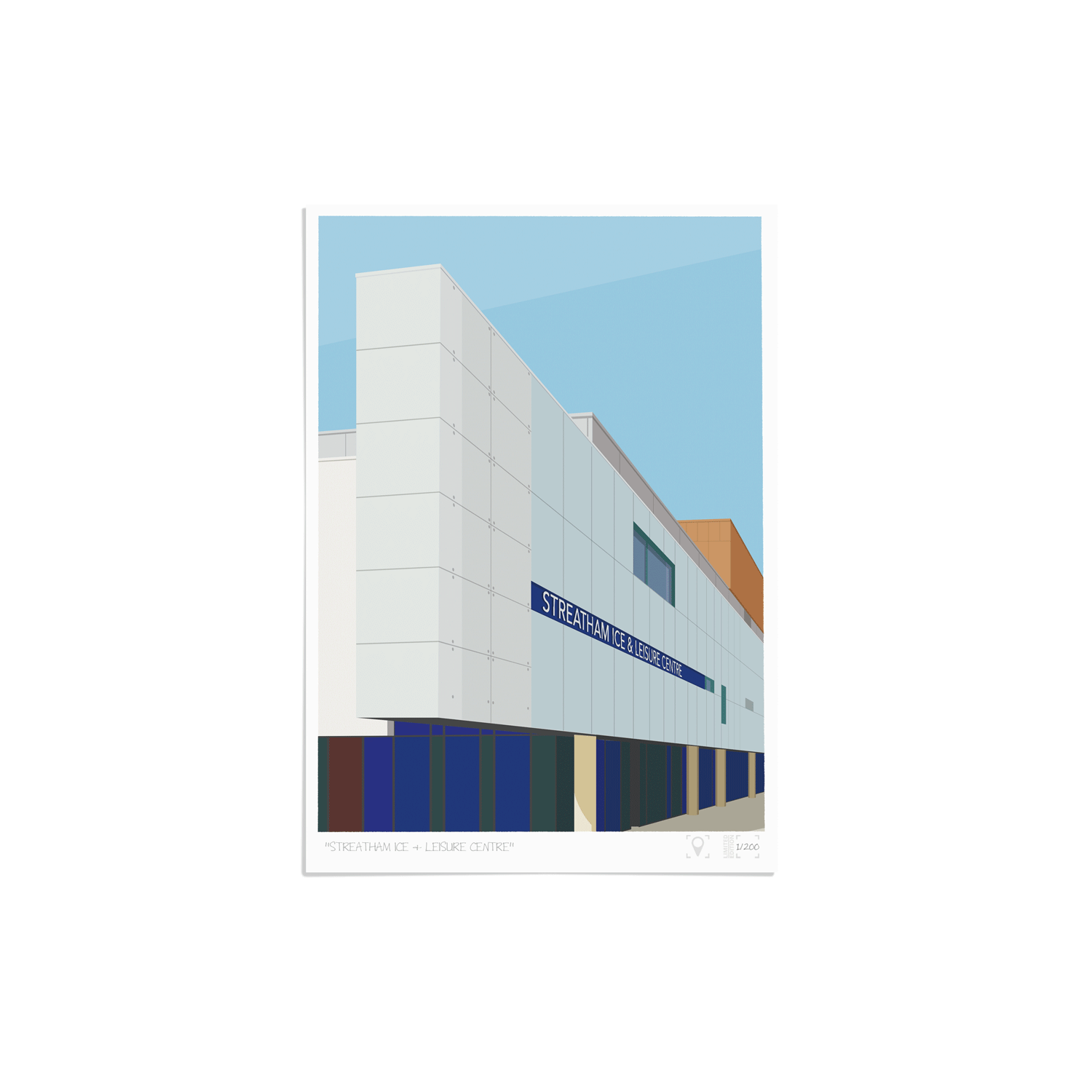 Place in Print Streatham Ice and Leisure Centre Art Print Unframed