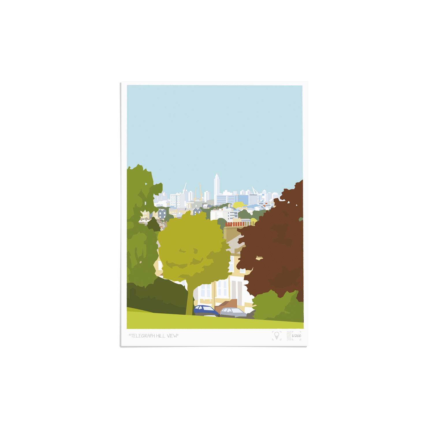 Place in Print Telegraph Hill View Brockley Art Print Unframed