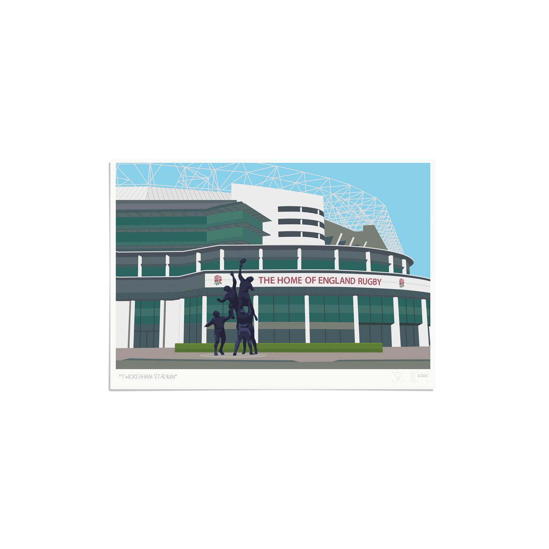 Place in Print Twickenham Rugby Stadium London Art Print Unframed