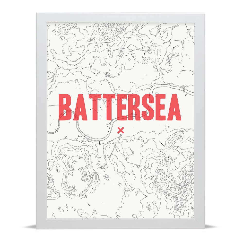 Place in Print Battersea Contour Map Art Print