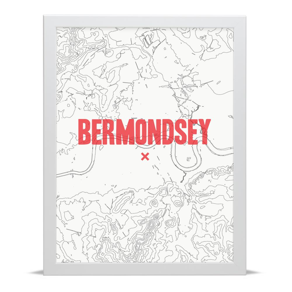 Place in Print Bermondsey Contour Map Art Print