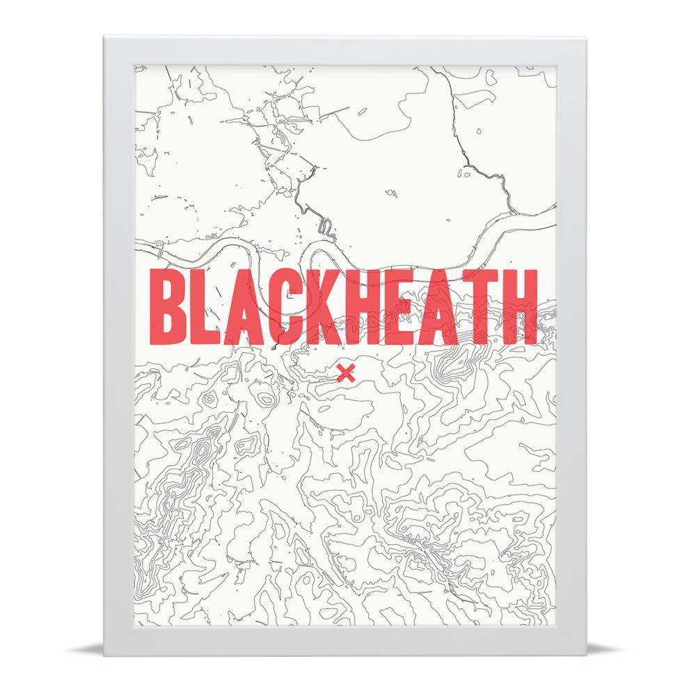 Place in Print Blackheath Contour Map Art Print