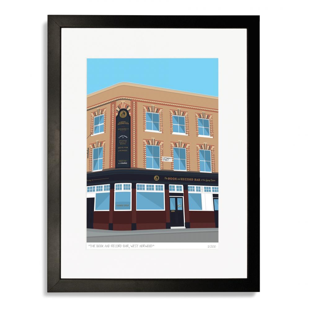 Place in Print Book and Record Bar West Norwood Art Poster Print