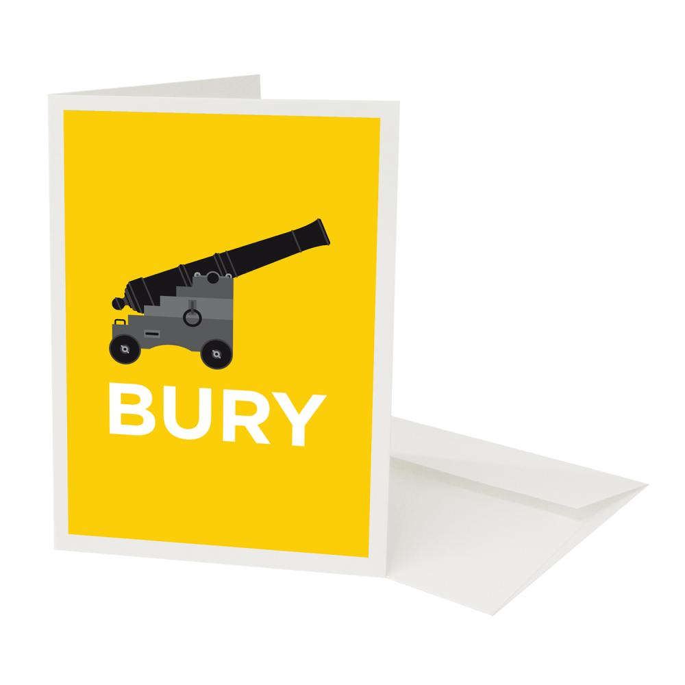 Place in Print Pate Canonbury Neighbourhood Pun Greetings Card
