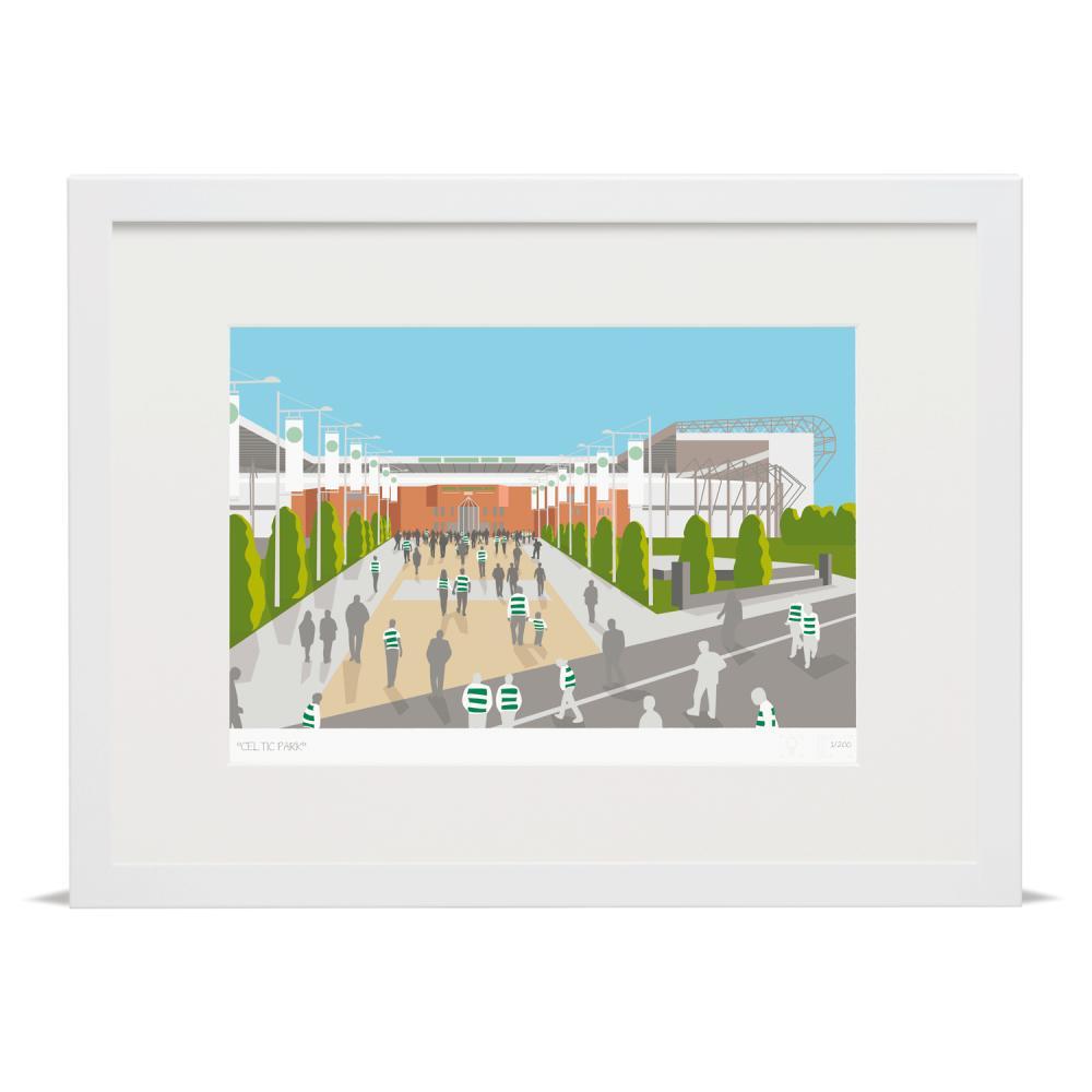 Place in Print Celtic Park Parkhead Paradise Glasgow Football Stadium Art Print