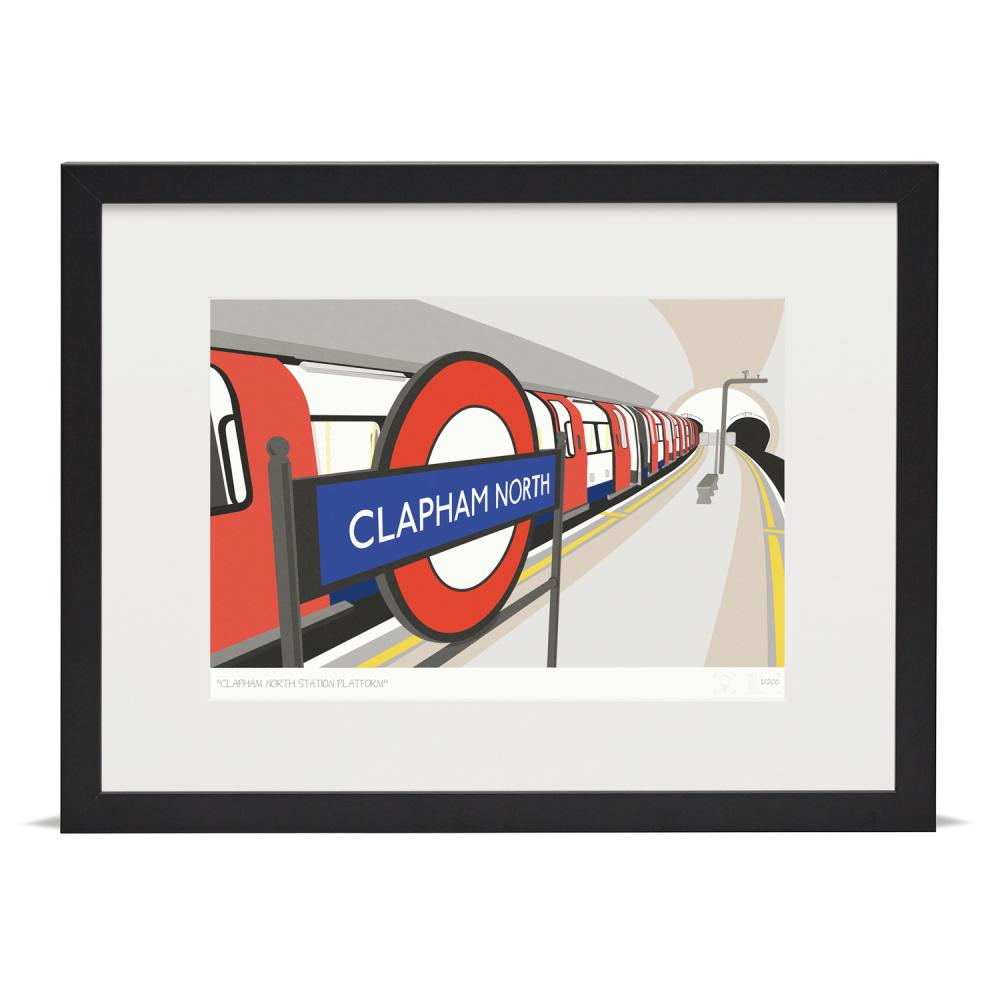 Place in Print South London Prints Clapham North Station Platform Art Print
