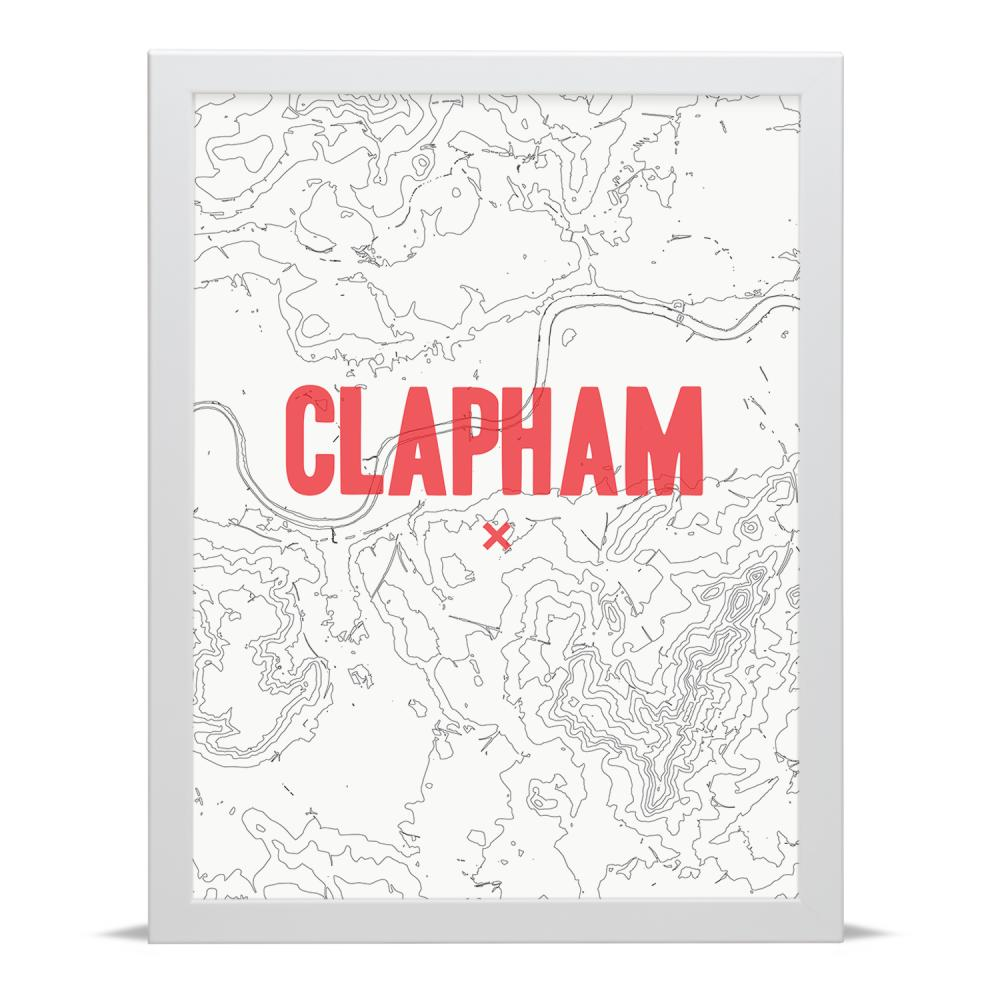 Place in Print Clapham Contour Map Art Print