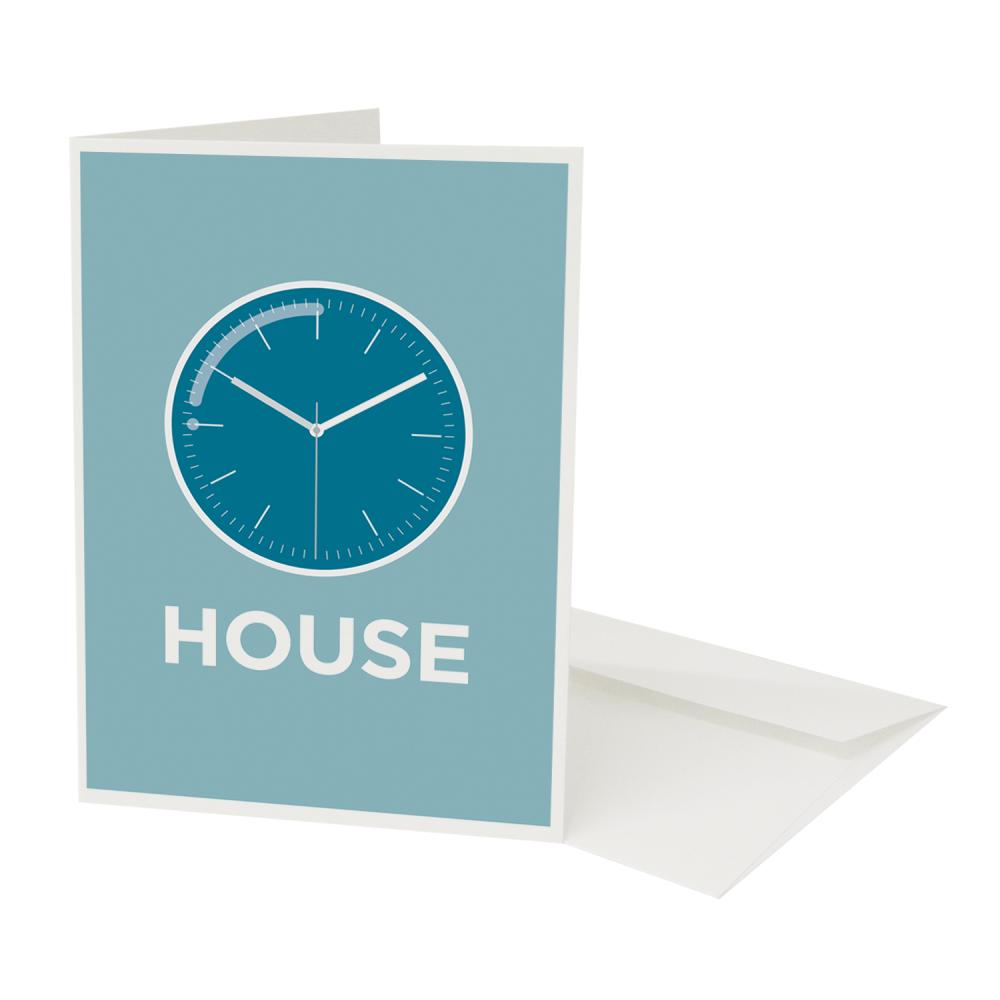Place in Print Pate Clockhouse Neighbourhood Pun Greetings Card