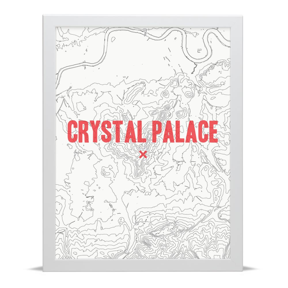 Place in Print Crystal Palace Contour Map Art Print