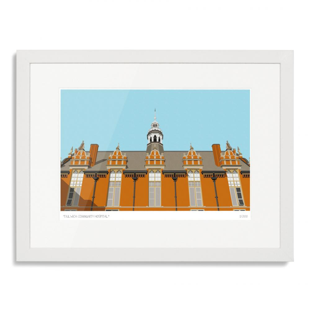 Dulwich Community Hospital Art Poster Print