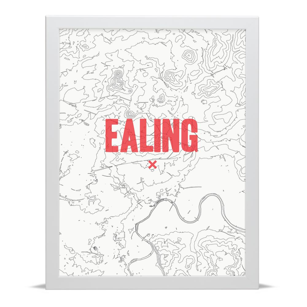 Place in Print Ealing Contour Map Art Print