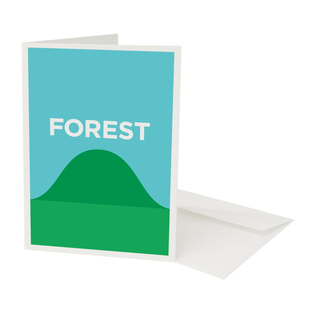Place in Print Pate Forest Hill Neighbourhood Pun Greetings Card